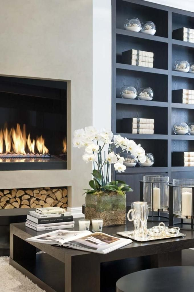 23 modern built in fireplaces to bring a cozy touch digsdigs - Contemporary built in bookshelves ...