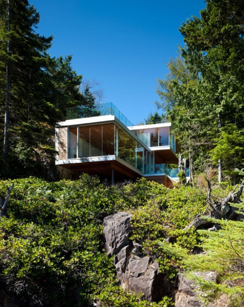Modern Cabin In The Woods: Gambier Island House