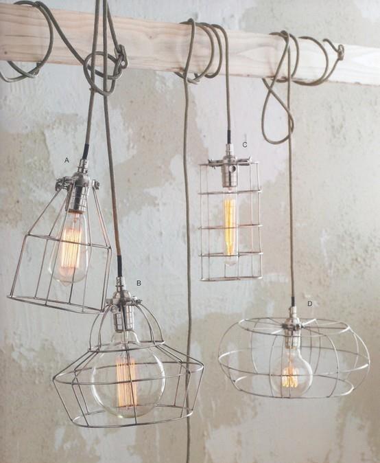 Как сделать каркас для лампы из проволоки