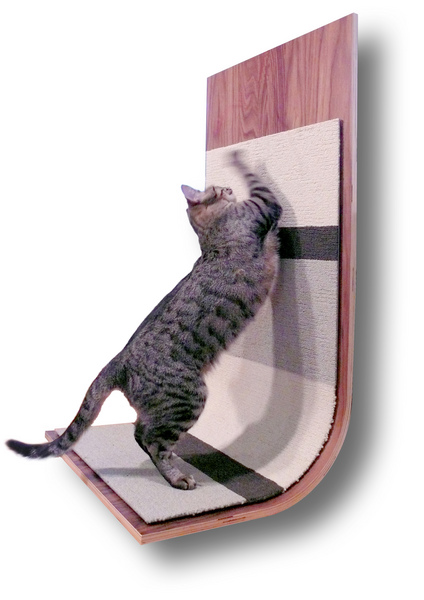 bent plywood cat scratcher