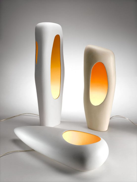Modern ceramic lamps by mamati digsdigs - Contemporary table lamps design ideas ...