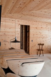 modern-chalet-with-wood-clad-interiors-and-touches-of-green-7