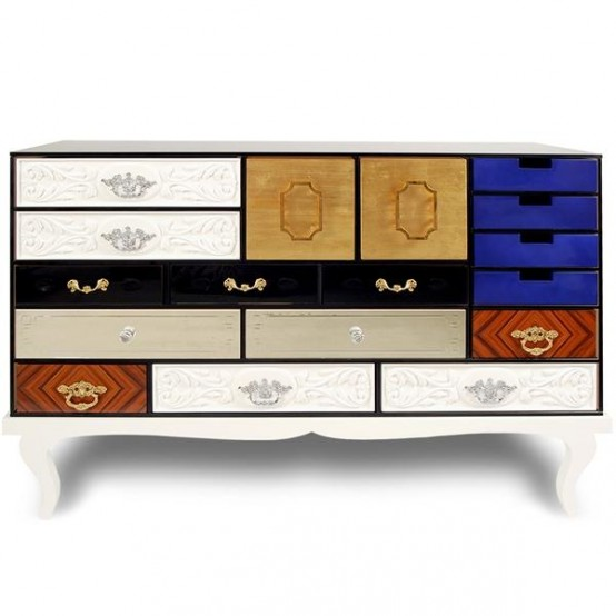 Modern Clorful Chest Of Drawers With Marks
