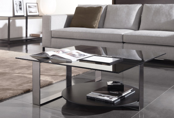 Modern Coffee Tables with Glass Tops – Bresson by Minotti