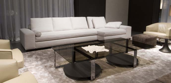 Modern Coffee Table With Glass Top Bresson By Minotti