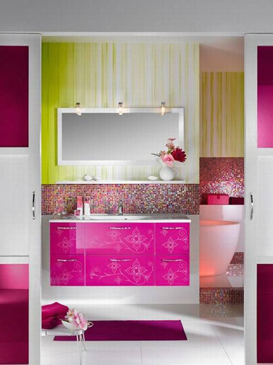 Modern Colorful Bathroom