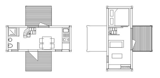 Container Small House Plan