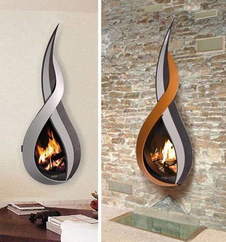38 modern creative fireplace designs for indoors digsdigs. Black Bedroom Furniture Sets. Home Design Ideas