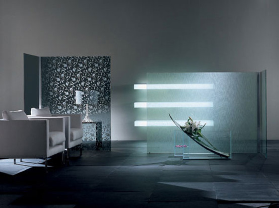 Modern Decorative Room Divider – Wall by Glass Italia