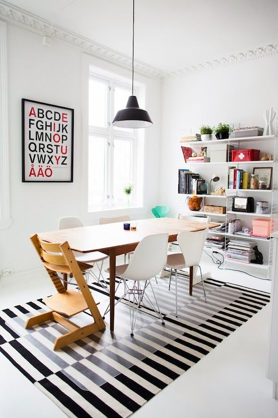 Modern Dining Room With Stockholm Rug