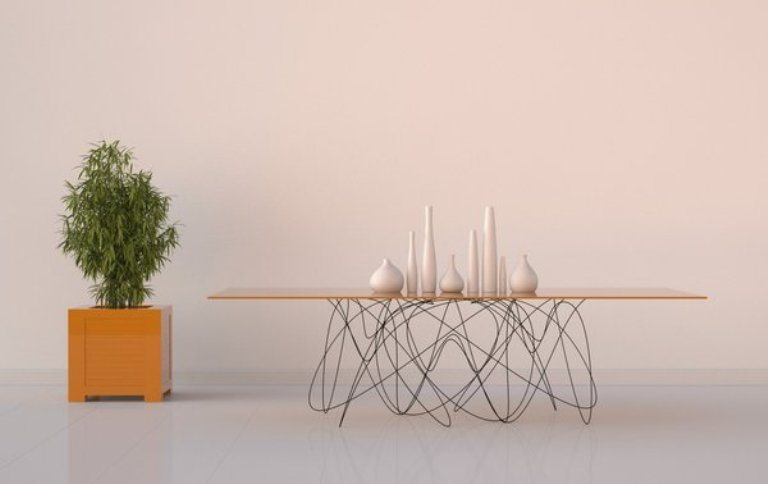 Modern dining table with unique legs digsdigs for Table design names