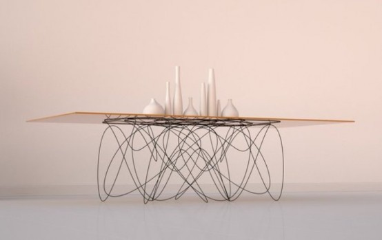 Modern Dining Table With Unique Legs
