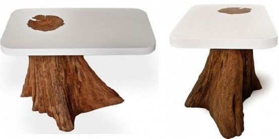 Modern Dining Tables Of Natural Logs
