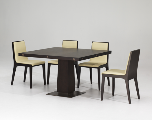 Modern Expandable Dining Table With Wooden Finish Petite