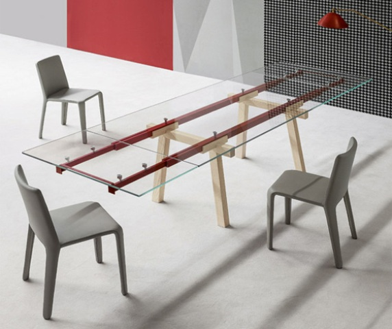 Modern Eye-Catching Transparent Tracks Table
