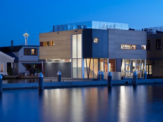 Modern Floating Home On Lake Union Digsdigs