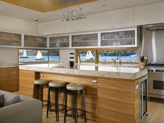 Kitchen Remodeling Modern Floating Home