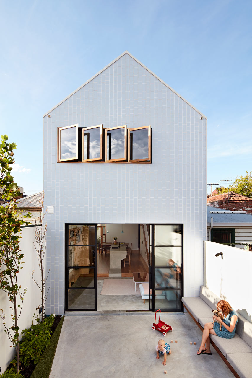 Picture Of modern functional home on a narrow lot  1