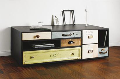 Modern Storage Furniture With Vintage Drawers | DigsDigs