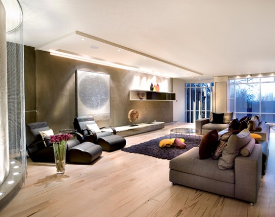 Modern and glamorous interior design