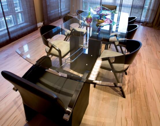 Modern & glamorous dining room