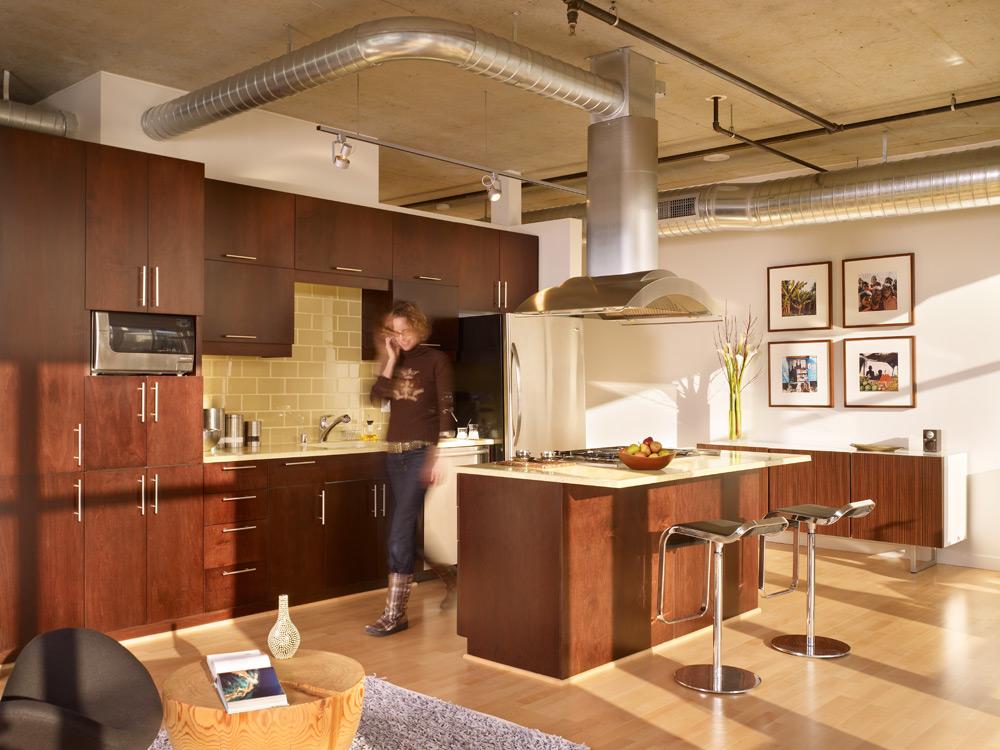 Modern Urban Green Loft Design Mosler Lofts Digsdigs