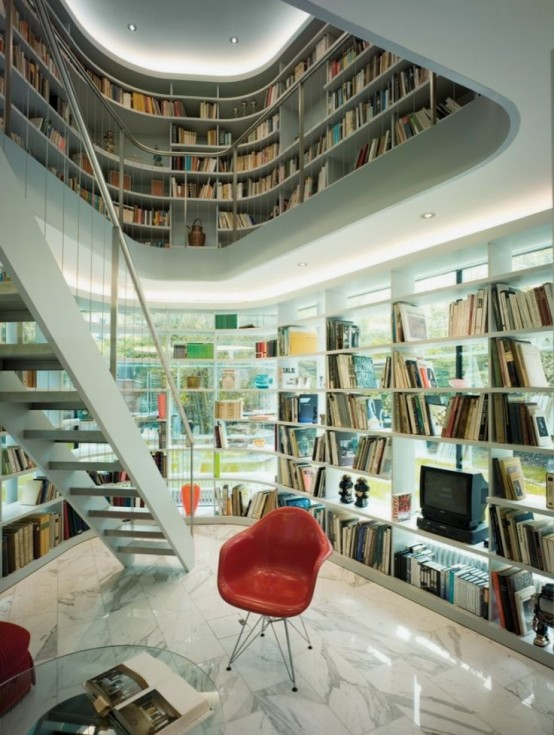 Designs Stand Out : Modern home library designs that stand out digsdigs