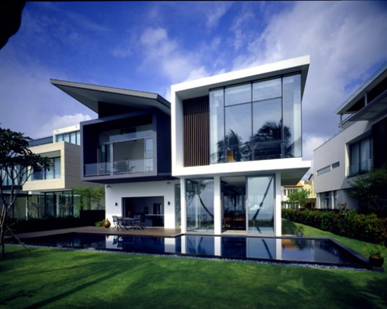 Modern house at small area in sentosa cove digsdigs - Simple modern house ...