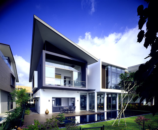 Contemporary Best Small Modern House Designs: Modern House At Small Area In Sentosa Cove