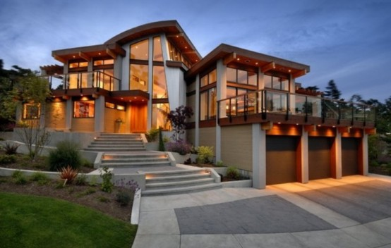Decoration Modern Pictures Of Beautiful Houses: Modern House Interior To Merge With Nature