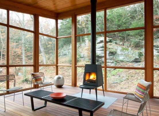 Modern House With A Rustic Cedar Exterior And Calm
