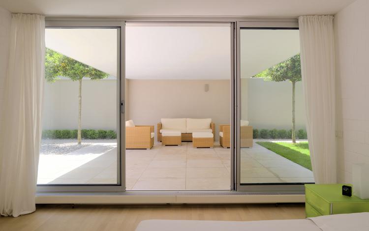 Advertisement for Sliding glass doors garden