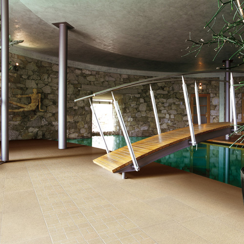 Modern Basement With Indoor Bridge