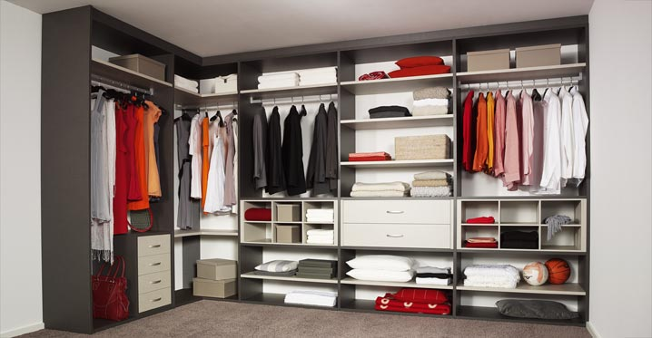 Modern and practical interior closet storage system for Wardrobe interior designs catalogue