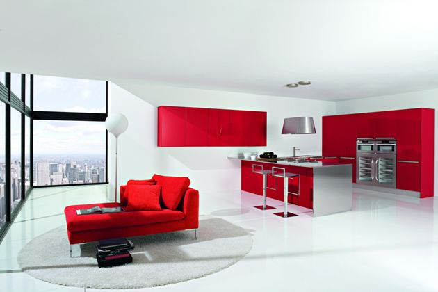 Modern Red Kitchen Ideas Custom Design