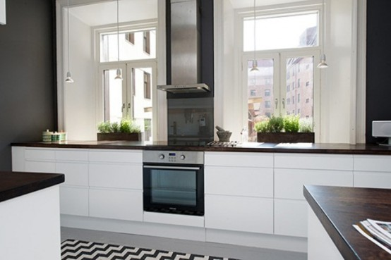 Modern Kitchen Design In Calm Shades With Industrial Touches Part 34