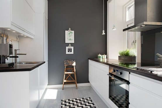 Modern Kitchen In Calm Shades With Industrial Touches