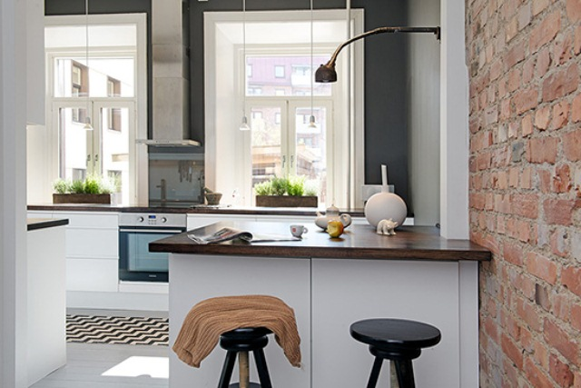 Modern Kitchen Design In Calm Shades With Industrial Touches