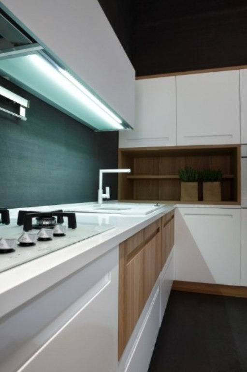 Modern Kitchen Of Natural Elm Wood By Stosa
