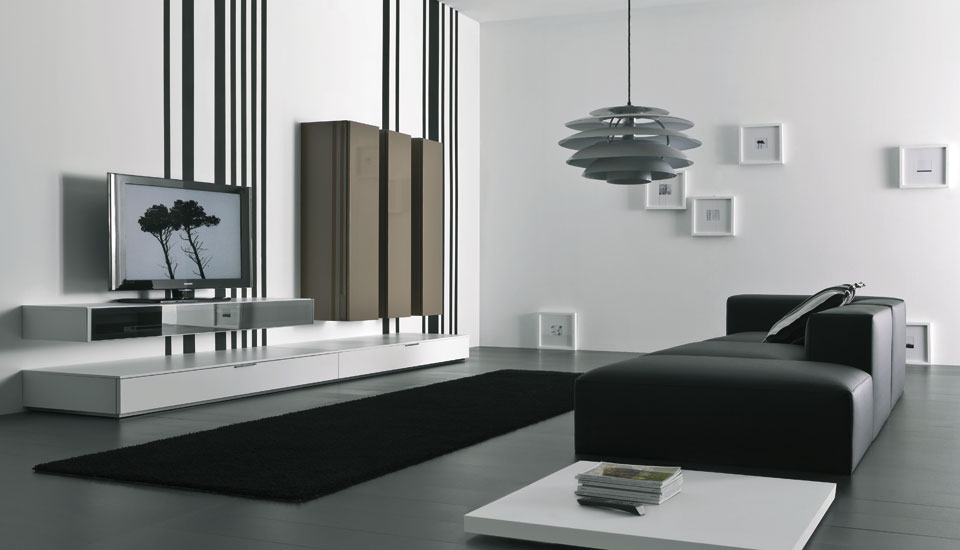 Modern lacquered tv cabinets spazio box from pianca for Mobilia spazio