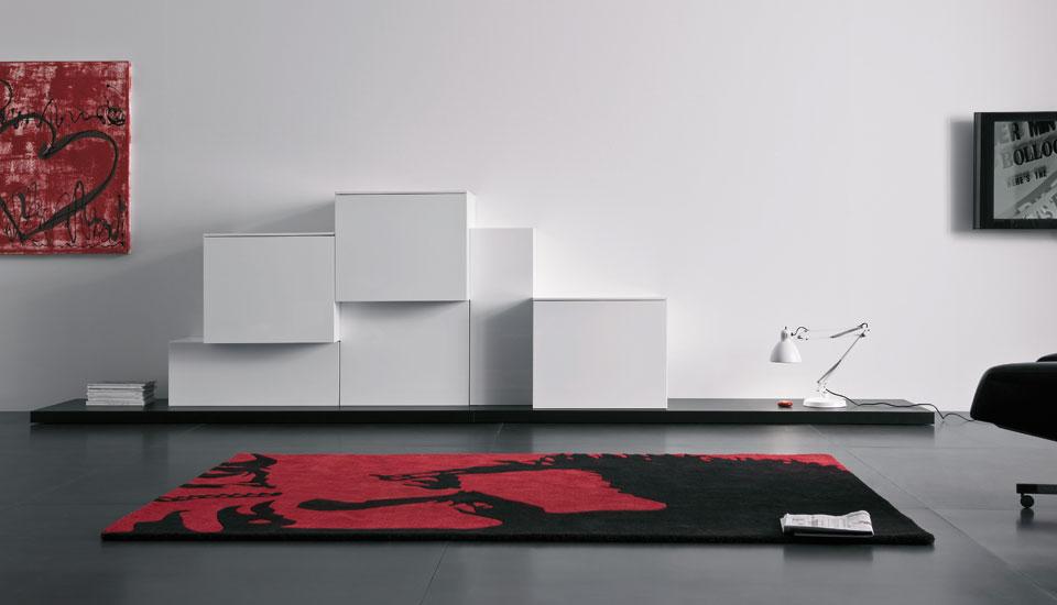 Modern Lacquered Wall Cabinet Spazio Box Volumi
