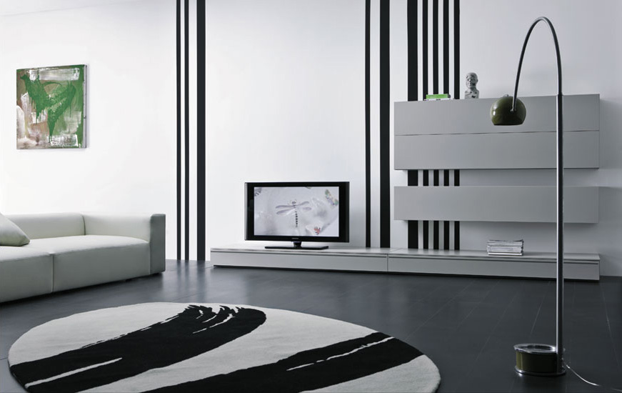 Modern lacquered tv cabinets spazio box from pianca Modern tv unit design ideas
