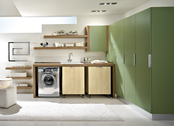 Modern laundry room design and furniture from idea group Laundry room design