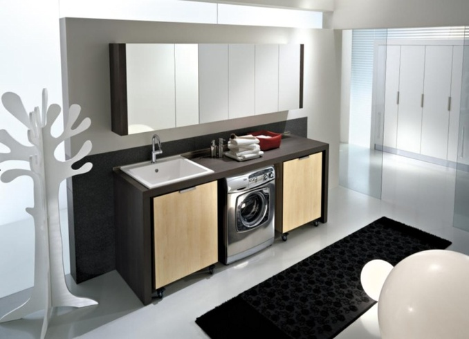 modern laundry room design and furniture from idea group. Black Bedroom Furniture Sets. Home Design Ideas