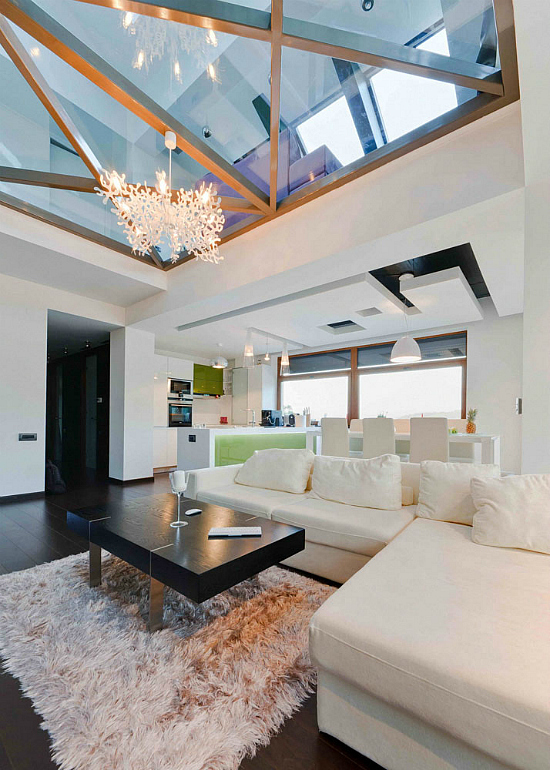 Modern Loft With Glass Walls And Floor