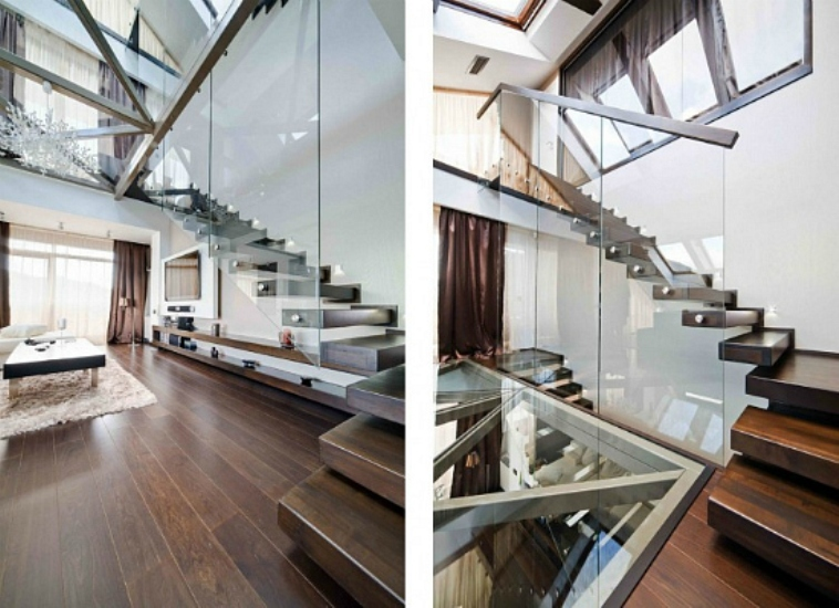 Modern Loft With Glass Walls And Floors Digsdigs
