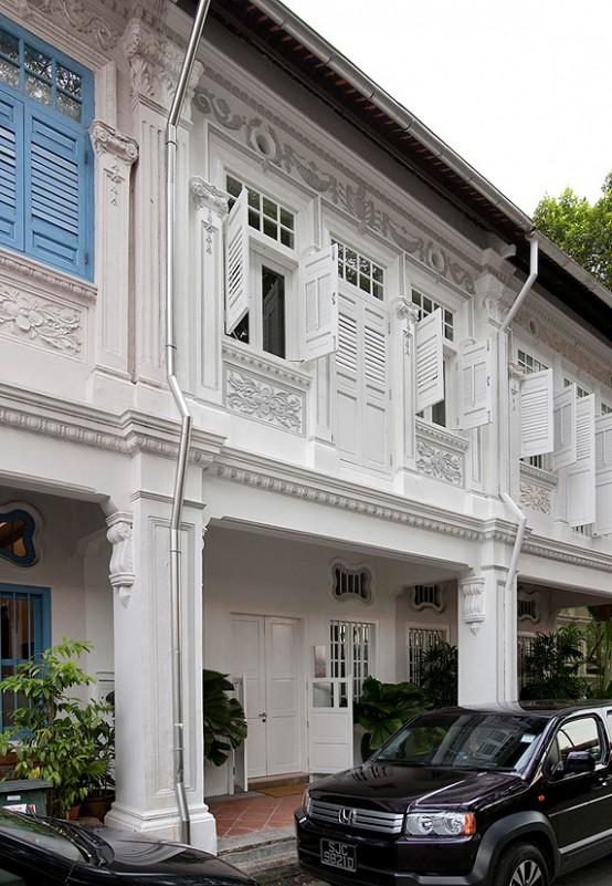 Singapore Shop House Facade