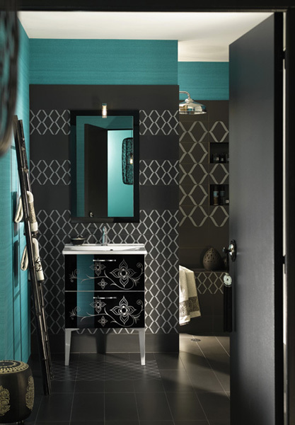 Modern Moroccan Bathroom Wallpapers