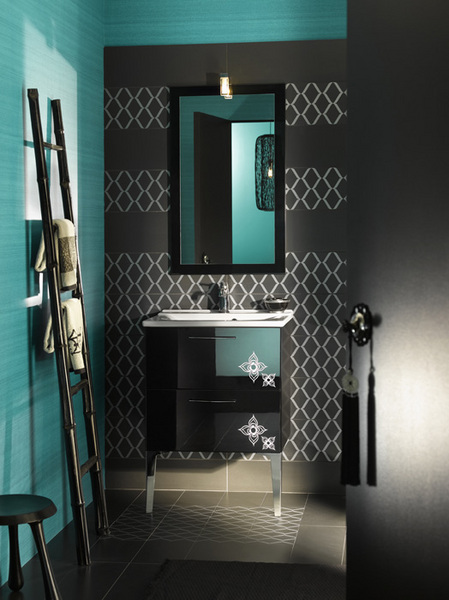 Modern moroccan bathroom furniture and inspiration for Modern chic bathroom designs