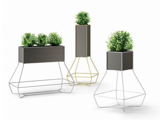 commercial unit terrarium tall outdoor and with design one amusing planters modern unique plant rectangle planter grey color